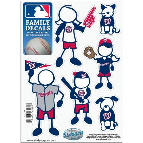Family Decal Nationals - MLB Washington Nationals Small Family Decal Set