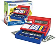 Learning Resources Pretend & Play Calculator Cash Register, Classic Counting Toy, Kids Cash Register, 73 P