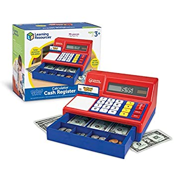 Studying Sources Fake & Play Calculator Money Register, Basic Counting Toy, Children Money Register, 73 Items, Ages 3+