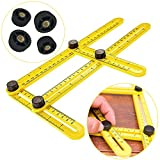 Angleizer Template Tool, Multi-Angle Measuring Ruler, General Angle-izer Template Ruler (Yellow)