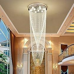 Modern Big Long Crystal Chandeliers