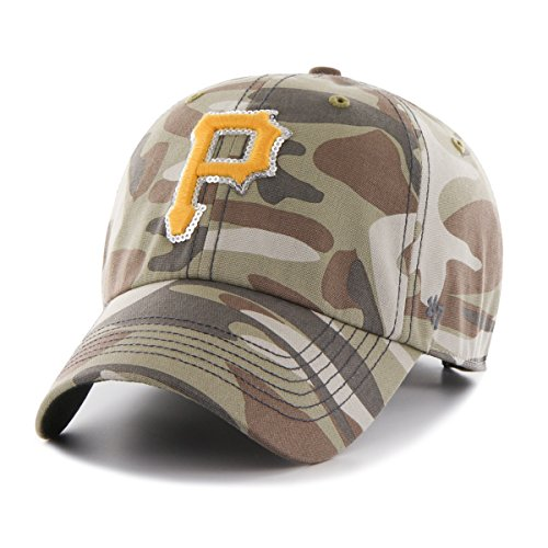 MLB Pittsburgh Pirates Women's Sparkle Camo Clean Up Hat, Women's, Faded Camo (Pirates Hats)