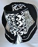 Wayuu Mochila Bag Authentic Large Handmade Colombian w/ Sequins (101BW-1)