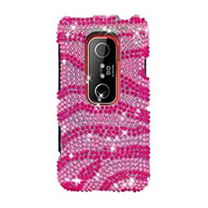 Cerhinu Eagle Cell PDHTCEVO3DF302 RingBling Brilliant Diamond Case for HTC EVO 3D/EVO V 4G - Retail Packaging - Hot Pink...