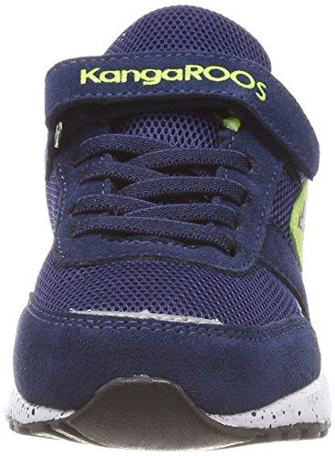 KangaROOS Chinu Ev 3, Zapatillas Unisex Niños Blau (Dk Navy/Lime)