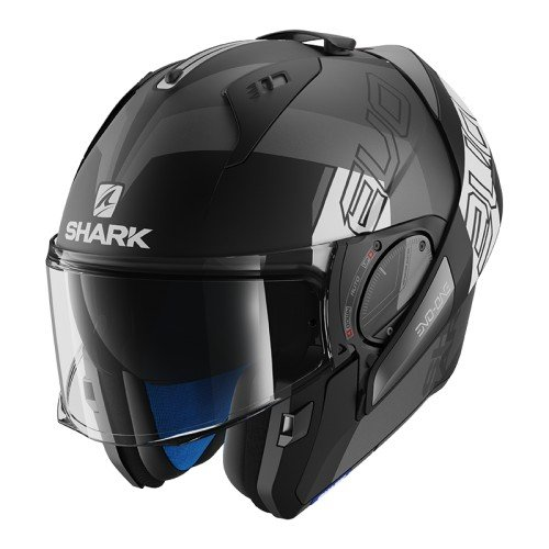 Shark Casque moto EVO-ONE 2 SLASHER MAT AKB Anthracite//Bleu L