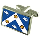 RAF Cranwell Military England Sterling Silver Flag Cufflinks Engraved Box