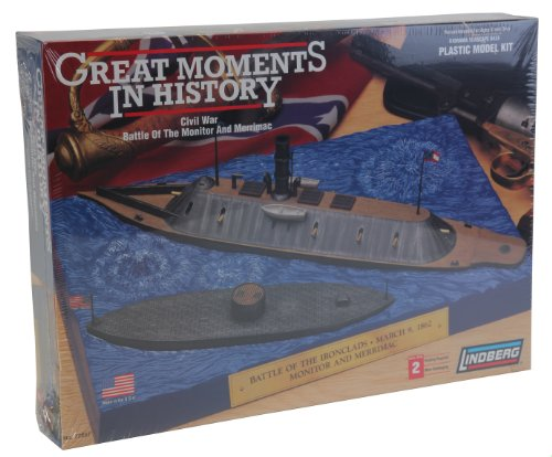 Lindberg 1 210 Scale Monitor And 1 300 Scale Merrimack Ships