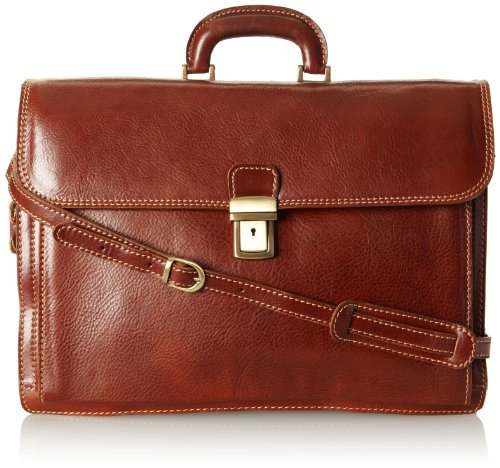 Floto Luggage Italian Firenze Brief, Brown, Large by Floto