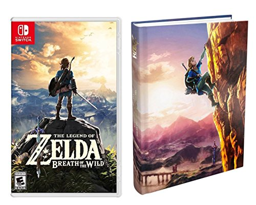 Nintendo Switch Zelda Video Game 2 Item Bundle: The Legend of Zelda: Breath of the Wild - Nintendo Switch; with The Complete Official Guide - Collector's Edition