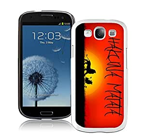Samsung Galaxy S3 Case Hakuna Matata Elegant White Cell Phone Case Cover