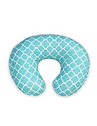Boppy Pillow Slipcover, Classic Plus Trellis Turquoise/Blue BOBEBE Online Baby Store From New York to Miami and Los Angeles