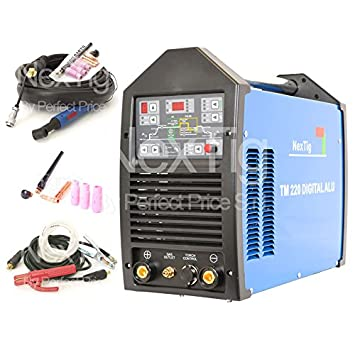 Soldador inverter TIG ACDC 200 A Digital pulsada NX 220 Digital Alu 10 Prog.: Amazon.es: Hogar