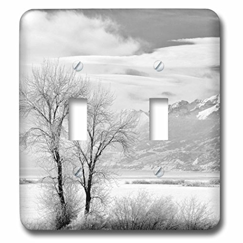 3dRose Danita Delimont - Utah - Utah, Heber City. Mount Timpanogos above Deer Creek Reservoir - Light Switch Covers - double toggle switch - Utah Outlets Park City