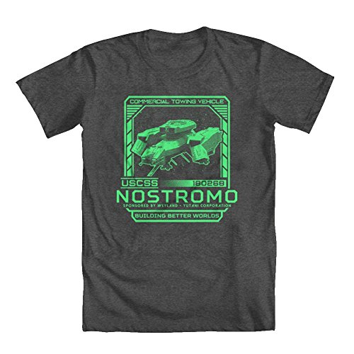 Price comparison product image GEEK TEEZ Alien Inspired USCSS Nostromo Girls' T-Shirt Charcoal Medium
