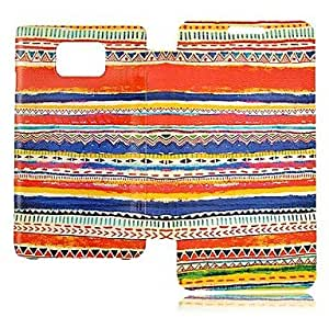 DUR Colorful Line Pattern Leather Full Body Case for Samsung S2 I9100