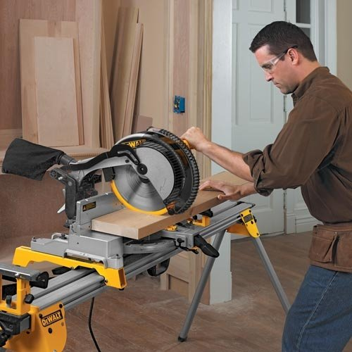 028877505756 - DEWALT DW715 15-Amp 12-Inch Single-Bevel Compound Miter Saw carousel main 7