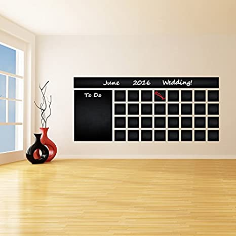 Amazon.com: (87 x 38)  Blackboard Vinyl Wall Decal ...