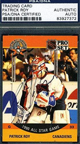 Patrick Roy Hand Signed (PATRICK ROY 1990 PRO SET HAND SIGNED PSA/DNA ORIGINAL AUTHENTIC AUTOGRAPH)