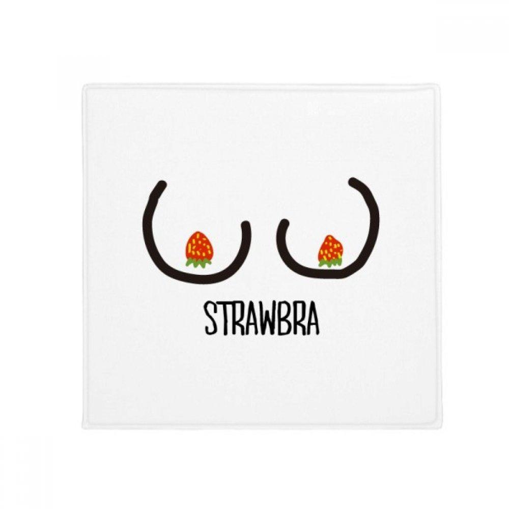 DIYthinker Funny Black Red Strawberry Drawing Anti-Slip Floor Pet Mat Square Home Kitchen Door 80Cm Gift