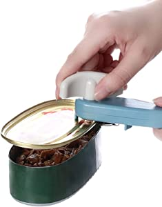 Manual Can Opener, Comfortable Grip, Smooth Edges, Hangs for Convenient Storage, Oversized Easy Turn Knob, Sharp Blades Easily Open Tin Cans, Mint