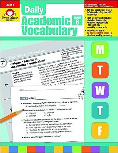 Daily academic vocabulary grade 6 evan moor 0023472027627 amazon daily academic vocabulary grade 6 evan moor 0023472027627 amazon books fandeluxe Images