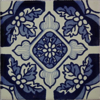 Amazon.com: 4,2 x 4,2 9 Pcs Azul Flores de Pascua mexicano ...