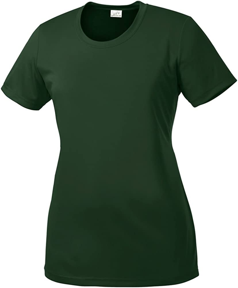 Joe's USA Women's Athletic All Sport Training T-Shirt in 48 Colors. Sizes XS-4XL