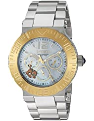 Invicta Womens Character Collection Quartz Gold and Stainless Steel Casual Watch, Color:Silver-Toned (Model...