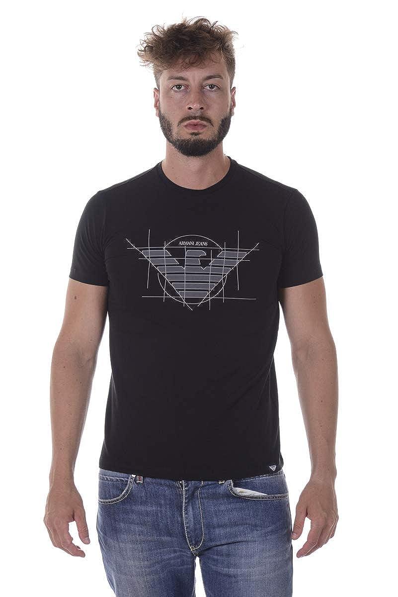 38aca9b12f1 Armani Jeans Eagle Point T Shirt in Black  Amazon.fr  Vêtements et  accessoires
