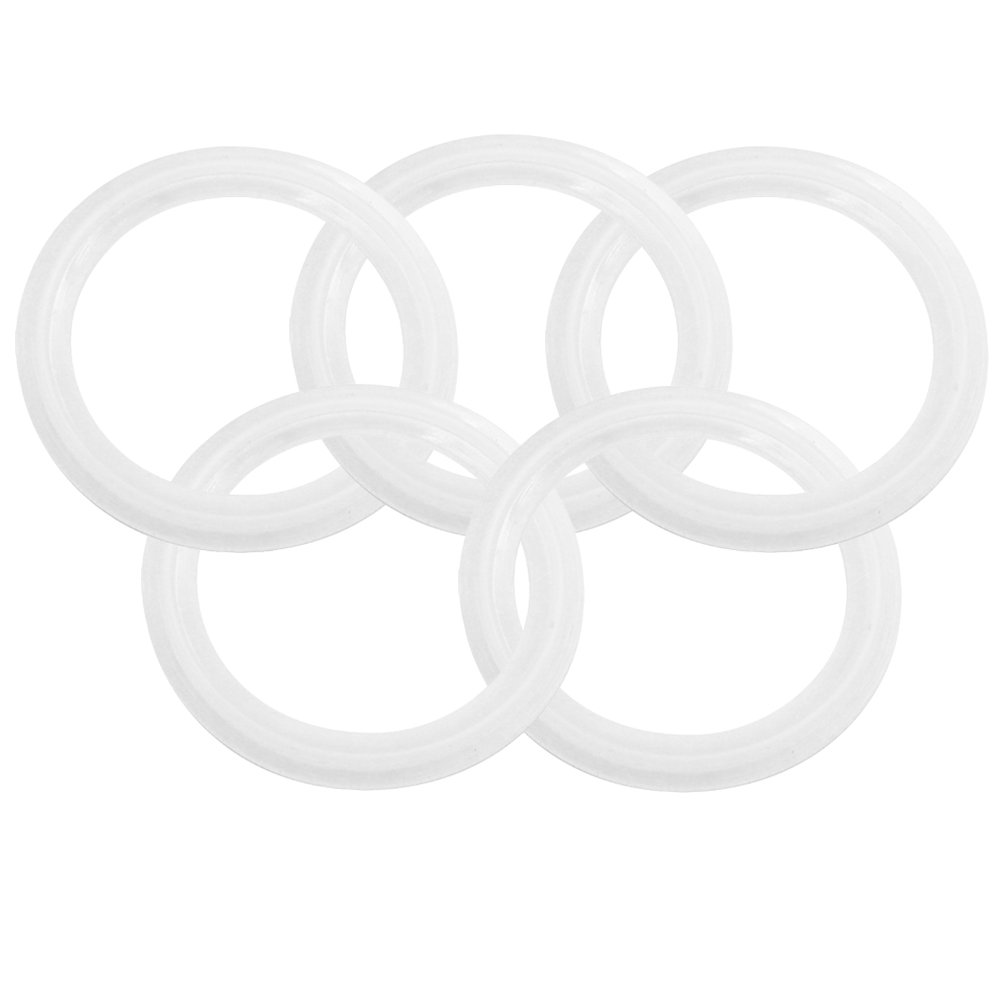 Dernord Silicone Gasket Tri-clover (Tri-clamp) O-Ring - 2 Inch (Pack of 5)