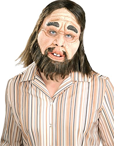 UHC Men's Realistic Look Caveman Latex Mask Theme Party Halloween Accessory