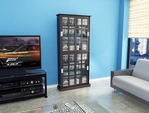 031742357572 - Atlantic 94835757 Windowpane 720 Media Cabinet in Espresso carousel main 0