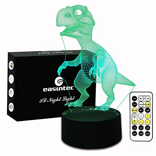 Night Light Dinosaur 7 Colors Change with Remote Control Good Night Light for Nursery or Kids Bedroom by Easuntec (Dinosaur)