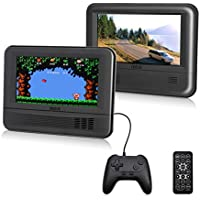 "RCA (DRC69705E28G) - 7"" Dual Screen Mobile DVD Player System & Game Pad - Set of Two 7-Inch Screens, (6-Piece Kit)"