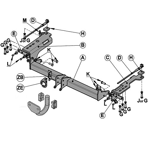 Witter Sy13a Fixed Flange Tow Bar