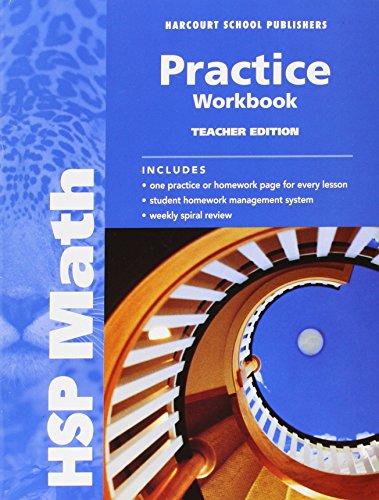 HSP Math: Practice Workbook, Teacher Edition, Grade 6