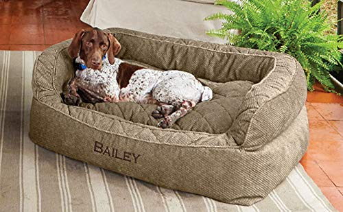 - Orvis Comfortfill Couch Dog Bed/Small Dogs Up to 40 Lbs, Brown Tweed,
