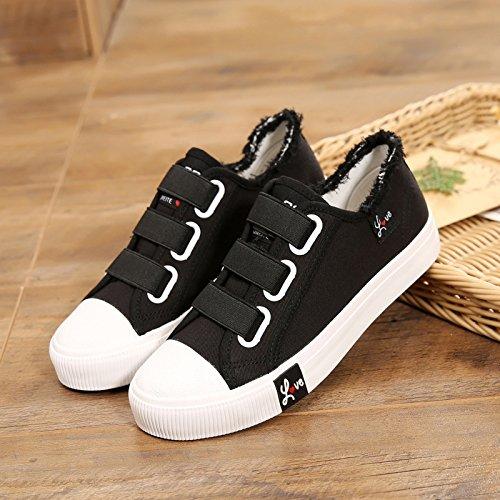 HBDLH Studenten Studenten Studenten Leinwand Flachen Boden Elastische Gürtel Einzelne Schuhe Schuhe. 7bf564