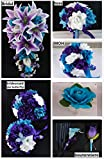 Silk Flower Wedding Package:6 Bouquets,6 Boutonneires,2corsages