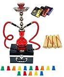 "Zebra Smoke Starter Series: 18"" 2 Hose Hookah Combo Kit Set w/ Instant"