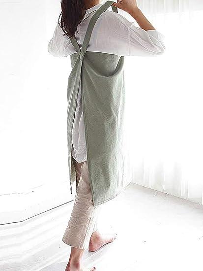 Rishil World Vestido Clásico Japonés De Lino Y Algodón
