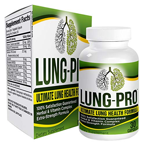 Lung-Pro: Daily Lung Health Support Supplement - Cleanse - Detox - Pills - Supplements - Capsules