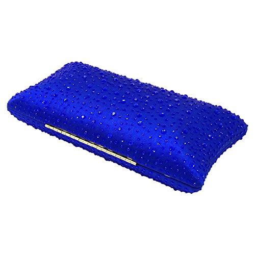 Clutch Noble Shoulder Wedding Orfila Rhinestone Blue Dress Party Pillow Handbag Evening Ladies 5wn66ZxqHO