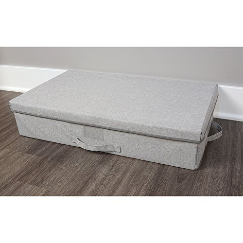 Large Collapsible  Under Bed Closet Storage Bin with Lid and Handle (Under Bed Baskets)