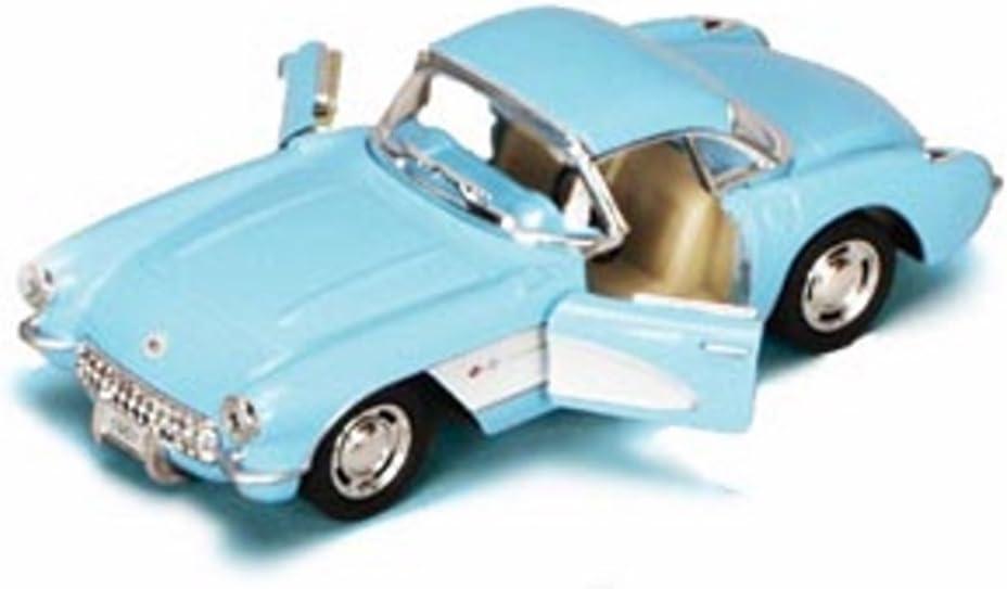 1957 Chevrolet Corvette Kinsmart Diecast 1:34 Scale Light Blue