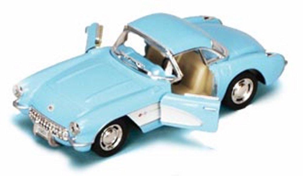 1957 Chevrolet Corvette 1:34 Scale Die-Cast Car by Kinsmart-Blau by Toysmith by Toysmith