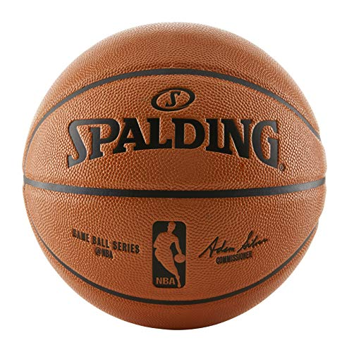 Spalding NBA Replica Indoor/Outdoor Game Ball, Orange, Size 6/28.5-Inch