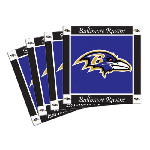 Boelter Brands NFL Baltimore Ravens 4-Pack Ceramic Coasters