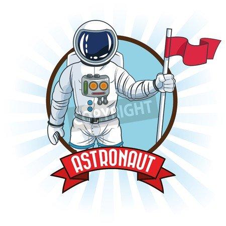 adrium Astronauta Flag Spaceman Cosmonaut Space Dibujos Animados ...